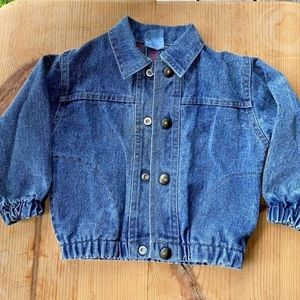 Vintage toddler denim jacket 3T TuffStuff unisex